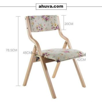 Wood Upholstered Folding Chairs Removable Seat Covers