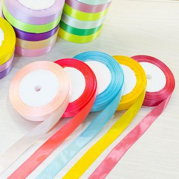 15mm 25 Yard Satin Ribbons Wedding Party Decoration Gift Craft Sewing art Fabric Braided hair Ribbon Cloth Tape DIY