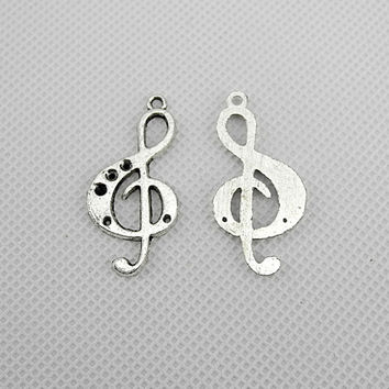 30x Charme Making Jewellery Supplies Fermoir Jewelry Findings Charms fabrication bijoux breloques A1725 Music Note