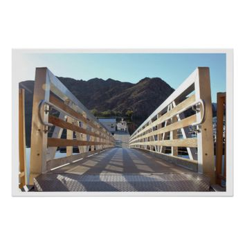 Dock on Colorado River Poster