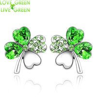 4 Leaf Clover Stud Earrings St. Patrick's Day