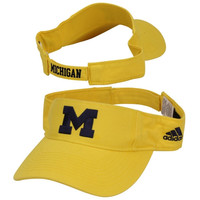 adidas Michigan Wolverines Basic Logo Adjustable Visor - Maize