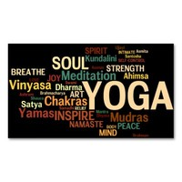 YOGA Instructor Business Card Standard Business Cards