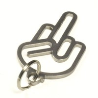 FUCK YOU | OFF HAND key chain fob Stainless Steel - shocker keychain - DUB DUBWAY