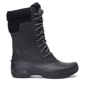 The North Face Womens Shellista II Mid Snow Boots Waterproof Black/Grey