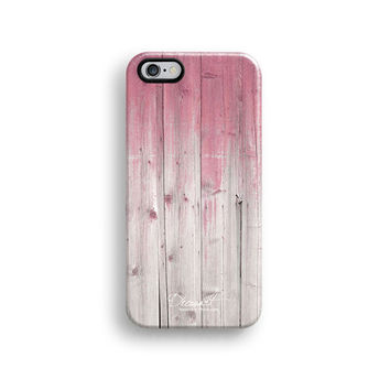 Pink wood iPhone 6 case, iPhone 6 plus case S646