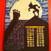 Disney Peter Pan inspired 16x20 Canvas Painting