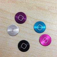 5 PCS Aluminium Metal Home button Sticker For iPhone iPod Touch 4 4G 5 Nano 7