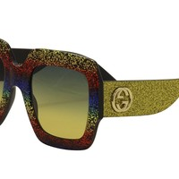 Sunglasses Gucci GG 0102 S- 005 MULTICOLOR/GREY GOLD