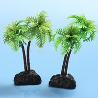 High Quality Nontoxic Artificial Aquarium Coconut Trees Fish Tank Plants Ornament Decoration