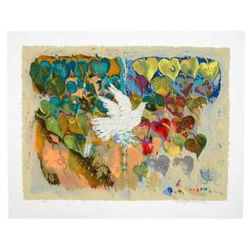 Phoenix Bird II by Shraga Weil, Wall Art Size: 28 H x 22 W