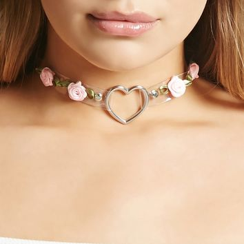 Heart Ring Rose Choker