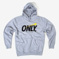 Only NY Star Pullover Hoody - Heather Grey | The Chimp Store