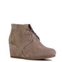 TOMS Desert Wedge in Taupe Suede
