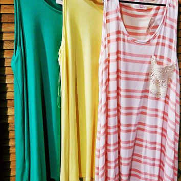 LOOSE LONG LINE POCKETED TANK