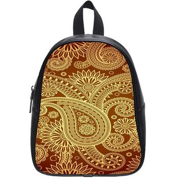 Vintage Paisley School Backpack Small