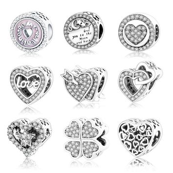 DIY Jewelry Bead 925 Sterling Silver Valentines Day Gift
