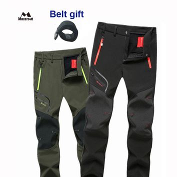 MAZEROUT Fishing Trekking Hiking Camping Skiing Climbing Cycling Outdoor Men Pants mountaineering Quick dry Fish Climb Trousers
