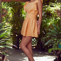 New Erin Golden Yellow Tie-Back Skater Dress
