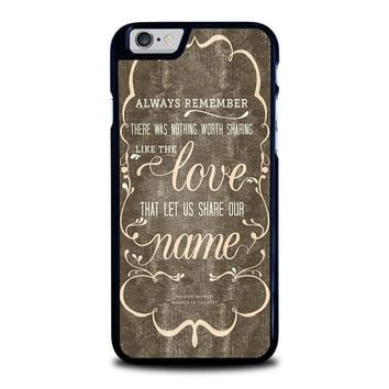 the avett brothers quotes iphone 6 6s case cover  number 1
