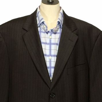 Hugo Boss Super 110s Einstein Sigma 3 Button Striped Blazer Jacket Mens 44L - Preowned