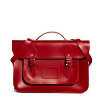 """Cambridge Satchel Company Exclusive to ASOS 14"""" Red Leather Backpack"""