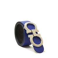 Tagre™ Salvatore Ferragamo Blue/Black Reversible Belt (100cm Waist 34-36)