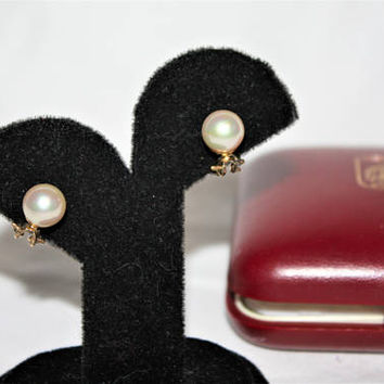 Vintage Pearl Earrings, Majorica Pearl Spain Sterling Silver Jewelry,  Earrings. 1970s  Jewellry
