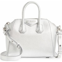 Givenchy Mini Antigona Metallic Leather Satchel | Nordstrom
