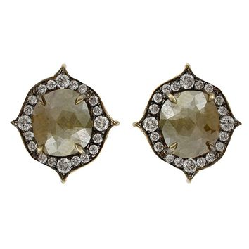 Sylva & Cie Rough Diamond Earrings