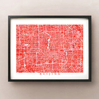 Beijing Map Print - China Poster Art
