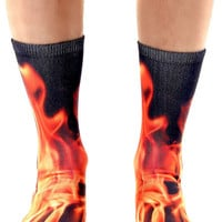 The Flame Crew Socks in Black