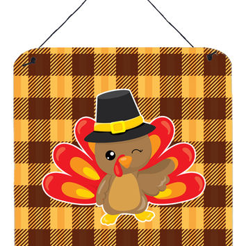 Thanksgiving Turkey Wink Wall or Door Hanging Prints BB7114DS66