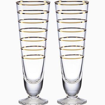 Melrose Avenue Pilsner Glass, Set of Two