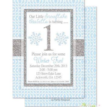 best winter onederland birthday invitation products on wanelo, Birthday invitations