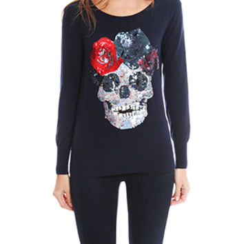 Markus Lupfer Flower Skull Sweater