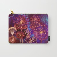 dandelions in the storm Carry-All Pouch by Clemm