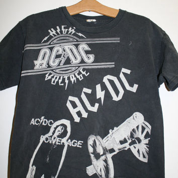 AC/DC High Voltage Powerage T Shirt Childs Large