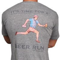 Beer Run Tee in Grey by Southern Proper