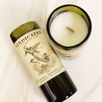 Vindicated Wine Candle
