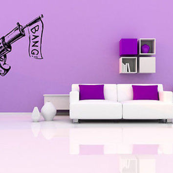 Colt Wall Sticker Decal Hand Gun Firearm Colt 1911 Gun Wall Art Decor 3813