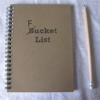F Bucket List 5 x 7 journal by JournalingJane on Etsy