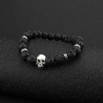 Gift New Arrival Awesome Stylish Great Deal Hot Sale Shiny Accessory Skull Yoga Bracelet [6464851329]