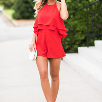 Ready For A Fiesta Romper, Red