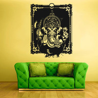 Wall Vinyl Sticker Decals Decor Art Bedroom Design Elephant ganesh Ganesha Buddha Indian Skull Animal Poster (z2342)