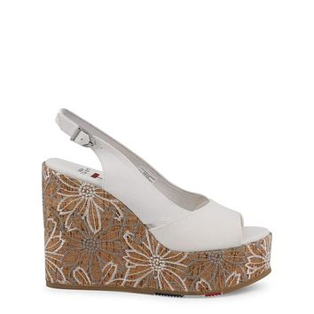 U.S. Polo Women White Wedges