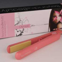 Pink- Ceramic Plate Hair Straightener 1-1/2""