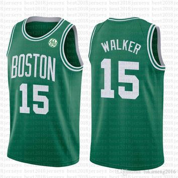 2019-2020 Boston Celtics 15 Kemba Walker Basketball Jersey