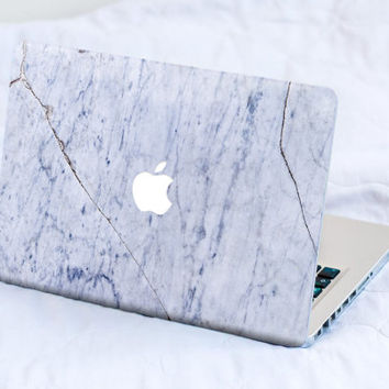 White Blue Marble MacBook Decal Skin MacBook decal sticker MacBook Pro Retina Cover MacBook Air Acer Asus Dell Lenovo Chromebook