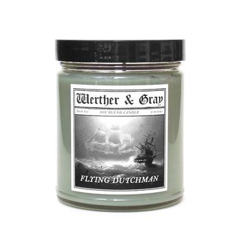 FLYING DUTCHMAN, Scented Candle, Ghost Ship, Marine, Nautical Decor, Ambergris, Cedarwood, Bay Rum, Horror Candle, Aquatic, Soy Blend